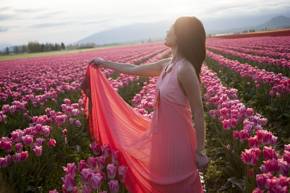 Tulip Field Pink Dress