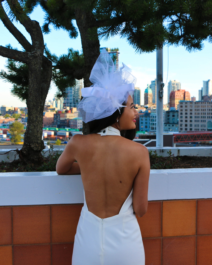 Classy White Backless Dress