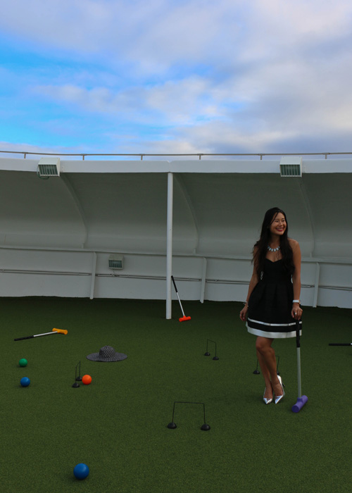 Salt and Shimmer - Croquet in pumps - Princess Cruises